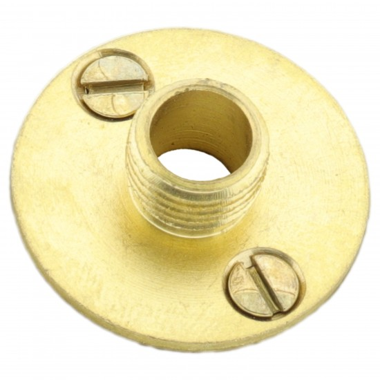 Lampholder fixing Plate with Screws in Raw Brass Finish