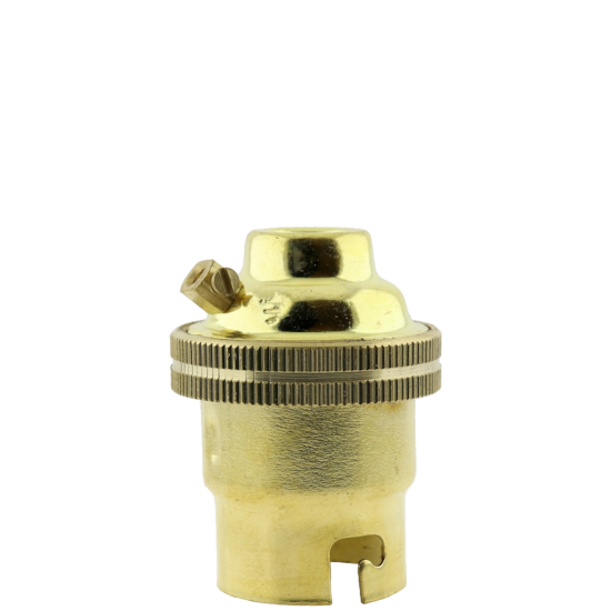 B22 Solid Brass LampHolder with Plain Skirt