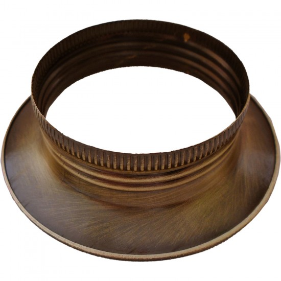 Lampholder E27 Antique Brass Finish Additional Ring