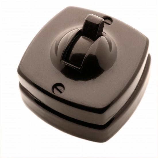 Britmac Vintage Toggle Bakelite Light Switch 2Way 1Gang Square Profile