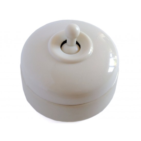 Crabtree Domed Off-White Bakelite Toggle Light Switch 1Way