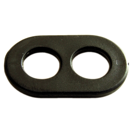 Cord Wire Grip Clamp Gland Grommet Two Hole 6mm in Black