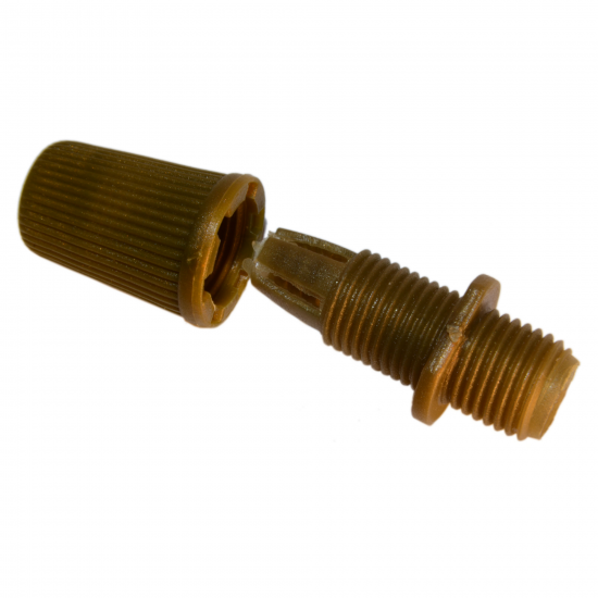 Two Part Nylon Flex Clamp, 10mm Threaded in Antique Green