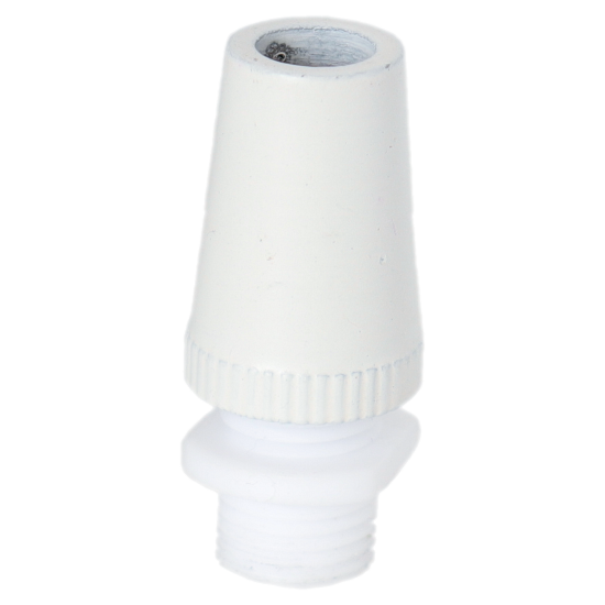 Two Part Metal Flex Clamp, 10mm Threaded, in White Finish