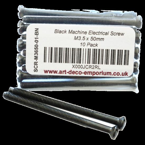Black Machine Electrical Screw M3.5 x 50mm