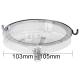 Large 106mm Three Hook Ceiling Cup Ring
