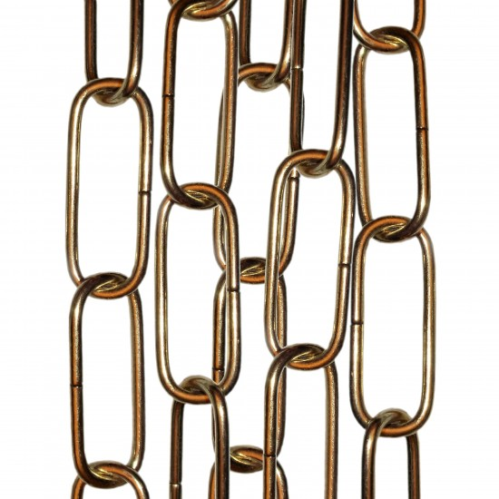 Standard Gauge Chain in Polished Brass Finish, 50cm