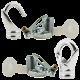 Deco Inspired Celiing Pendant Hook and Loop in Bright Nickel Finish