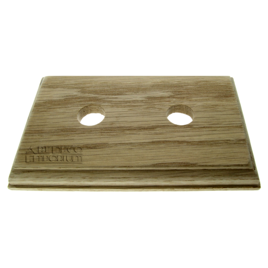 Solid Natural Oak Switch Mount Pattress 2Gang for 2 Switches