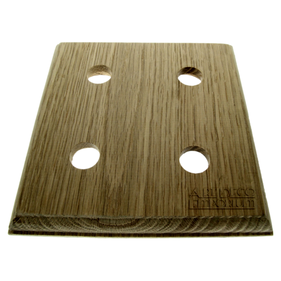 Solid Natural Oak Switch Mount Pattress 4Gang for 4 Switches