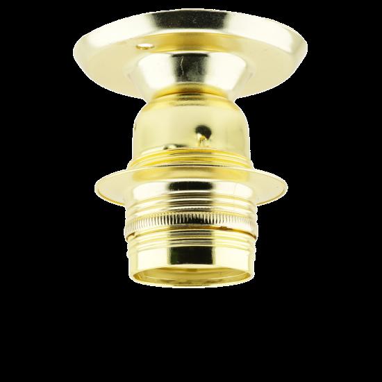E27 Batten Bulb Holder (lampholder) in Polished Brass Finish