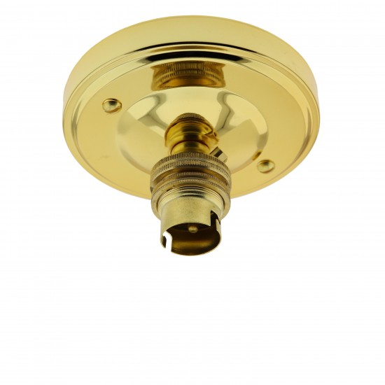 B22 Lampholder in Brass Finish