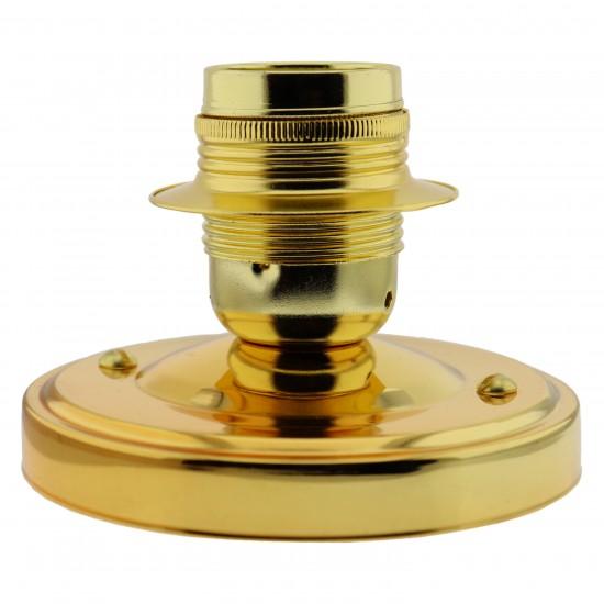 Large E27 Batten Lampholder in Polished Brass Finish
