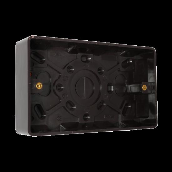 Brown Bakelite Switch or Socket surface Mount 2Gang 25mm