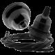 Black Bakelite Ceiling Pendant Kit & E27 Bulb Holder with Black Flex