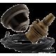Brown Bakelite Ceiling Pendant Kit with B22 Antique Brass Lampholder & Black Flex