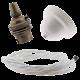White Bakelite Ceiling Pendant Kit with B22 Antique Brass Lampholder & White Flex
