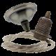 Small Antique Brass Ceiling Pendant Kit & E27 Lampholder with Linen Flex