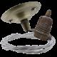 Antique Brass Ceiling Pendant Kit & E27 Lampholder with Silver Flex