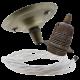 Antique Brass Ceiling Pendant Kit & E27 Lampholder with White Flex