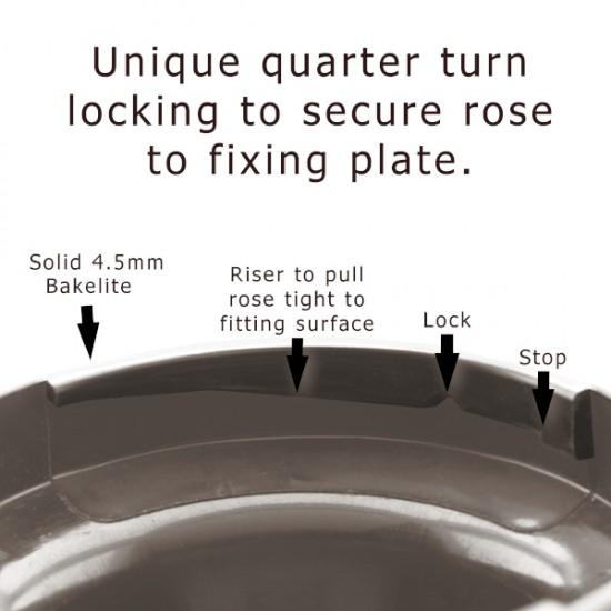 Ceiling Rose Cup in Dark Brown Bakelite