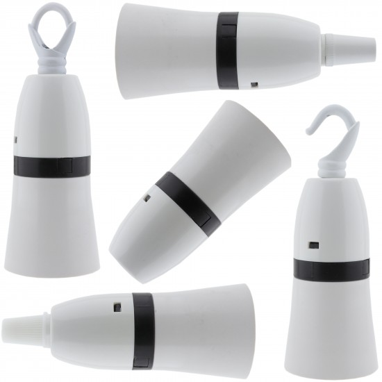 Lampholder B22 White With Shade Skirt and 10mm Threaded Entry